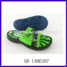 SR-14ME207 new fashion beach men eva china cheap wholesale slippers flat green wholesale slippers men eva bathroom slippers