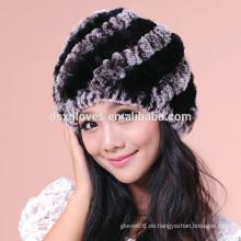Gorras y sombreros de Kintted de la piel de la moda de los sombreros de señora Winter Hat