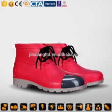 CE aço Toe e Sole PVC homens botas de chuva vermelha e segurança PVC goma botas