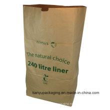 Nutral Brown Littre Saco de papel compuesto