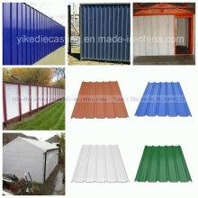 Anti-Corrosin Green PVC Material de la pared exterior corrugado Panel de pared