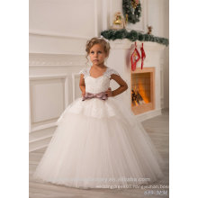 Wholesale 10 Year Old Girl Latest Children Frocks Birthday Lace Long Ball Gown Flower Girl Dresses Pattern Kids Party LF20