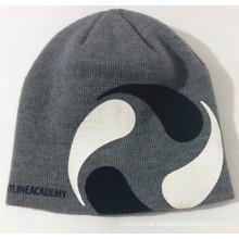 Kundenspezifische Druck-gestrickte Kappe Bestickte Mütze Der Winter-warmer Hut