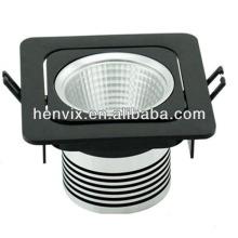 Haute qualité blanc COB 10W led downlight square