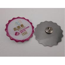 Offset Printed Badge, Volunteer Metal Badge (GZHY-YS-048)