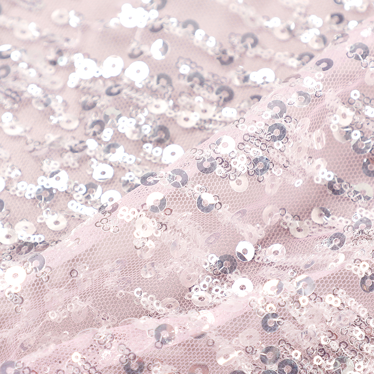 Net Beaded Lace Fabric
