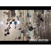 Office hall acrylic crystal ceiling chandelier lighting