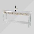 Clear Round Acrylic Modern Coffee Folding Table