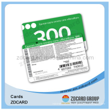 Paperboard Telecommunication Recharge Phone Card