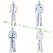 Dupond Tyvek esterilizou o vestuário de proteção cirúrgico médico descartável do hospital