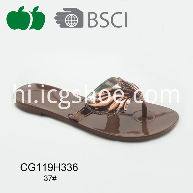 woman plastic slipper