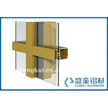 Aluminium section for curtain wall