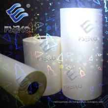 Película de calentamiento del holograma / del laser 3D para el papel, laminación de la caja (BT, BH)