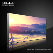 Double-Sided Fabric Lighting Box Free Standing CE ROHS Plug and Play  Advertising Led Light Box