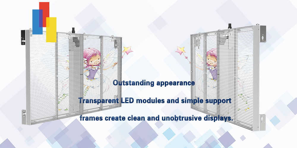 Outstanding appearance of P10 LED glass display