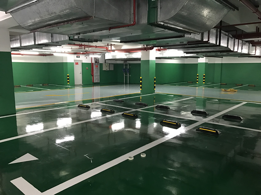 Green Parking Lot Self Leveling Epoxy Floor