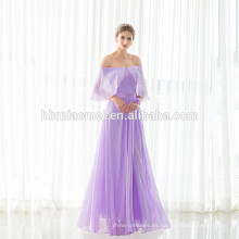 Vestido de noche sin mangas púrpura elegante de la longitud del piso 2017 Guangzhou