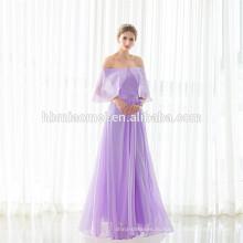 2017 Элегантный Фиолетовый Без Рукавов Длина Пола Вечернее Платье Гуанчжоу
