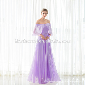 2017 Elegant Purple Sleeveless Floor Length Evening Dress Guangzhou