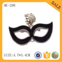 MC298 изготовленный на заказ дизайн металлическая этикетка, мода сплава логотип название пластины, дешевые одежды повесить тег