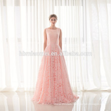 New Fashion Ladies Pink Casual Sleeveless Party Evening Wear Floor Length Women Dress Lace Evening Dress