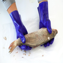 Waterproof Insulated Triple Dipped PVC Chemical Resistant Gloves For Commercial Fishing