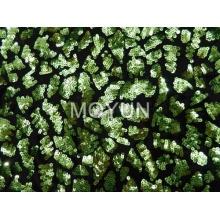 Зеленый блестками вышивка