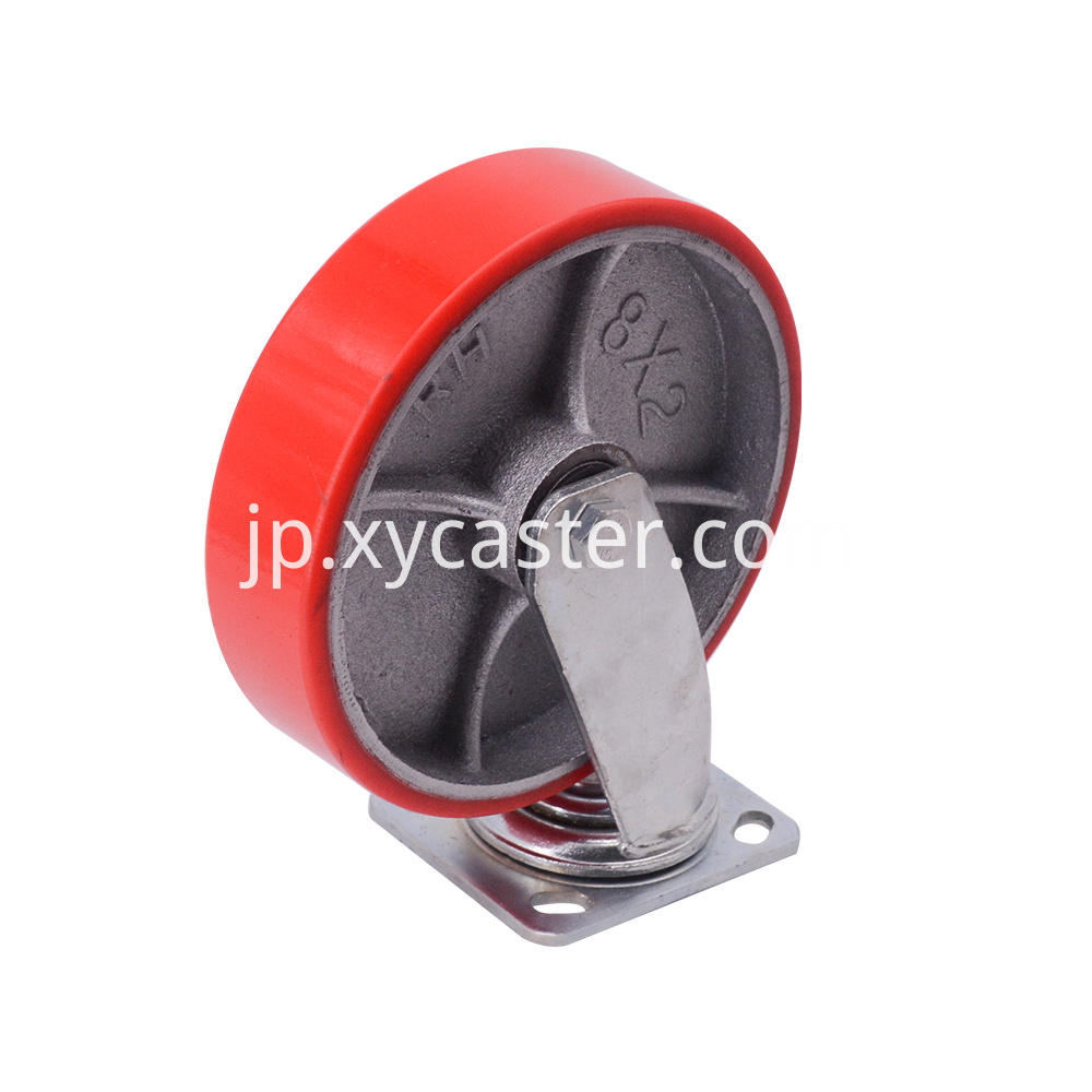 8 Inch Red Caster