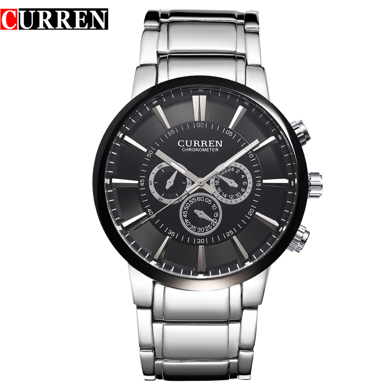 Casual Waterproof Stainless Steel Band Watches Men