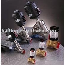 Electroválvula para latón y material de acero inoxidable, controlada por aire