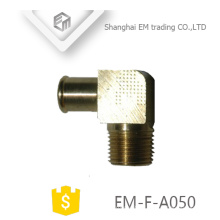 EM-F-A050 Male Thread quick connector brass press elbow pipe fitting for Air hose