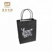 Wholesale Cheap Small Gift Shopping Carry Custom Black Handy Kraft Craft Paper Bag With Handle