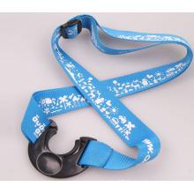 Custom water bottle holder neck strap