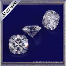 High Quality Cushion Shape Brilliant Diamond Cut Synthetic White Moissanite Gemstone for jewelry