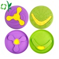 Dilepas Silicone Dog Fly Disc Pet Frisbee Mainan