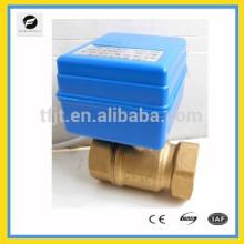 Válvula eléctrica del motor de latón de 2 vías DC12V DN20 con operación de realimentación de la señal de posición