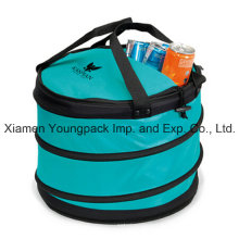 Customized Turquoise Collapsible Party Insulated Cooler Bag