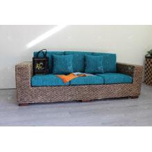 2017 de larga duración y natural de agua Hyacinth Sofa Set para Interior Living Set Tejido hecho a mano