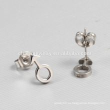 2016 Joyería Popular Productos Símbolos Sexuales Titanium Stud Earrings Unisex ZZE013