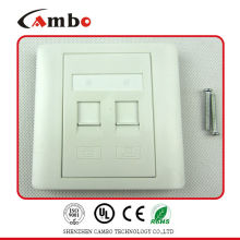 Made In China Electric Faceplate Fit for RJ45 keystone jack outlet plate.