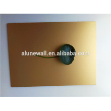 Insulated high quality Gold brushed aluminum composite Wall cladding panel