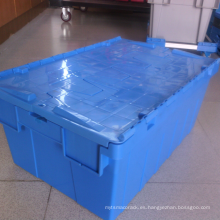 Envases de plástico anidados de azul