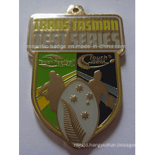 Customized Touch Gold Plating Football Medallion
