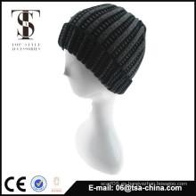 Fashional 100% sombrero de punto de acrílico sólida de punto para los hombres