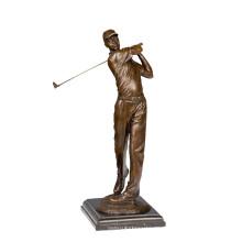 Latón Deportes Estatua de la escultura de golf masculino jugador de la decoración de bronce Tpy-791 (C)