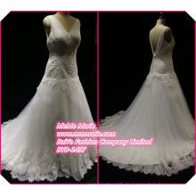 Lace Stoff für Hochzeitskleid für schwangere Brides V Ausschnitt Brautkleid BYB-14577