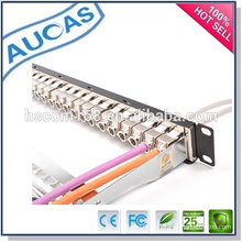 Cat7 utp geschirmt rj45 IDC keystone jack / tooless 90 grad modularer steckverbinder / systimax cat5e cat6 vergoldeter stecker