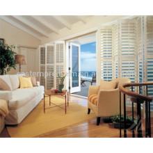 2018 persianas de ventana de madera del PVC de imitación ajustable de alta calidad calientes del mejor precio