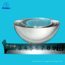 Matériau verre Diamètre 0.65mm à 200mm lentille demi-boule