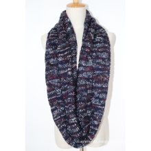 Womens Unisex Neck Warmer Fancy Thick Winter Yarn Mixed Knitted Loop Snood Scarf (SK152)